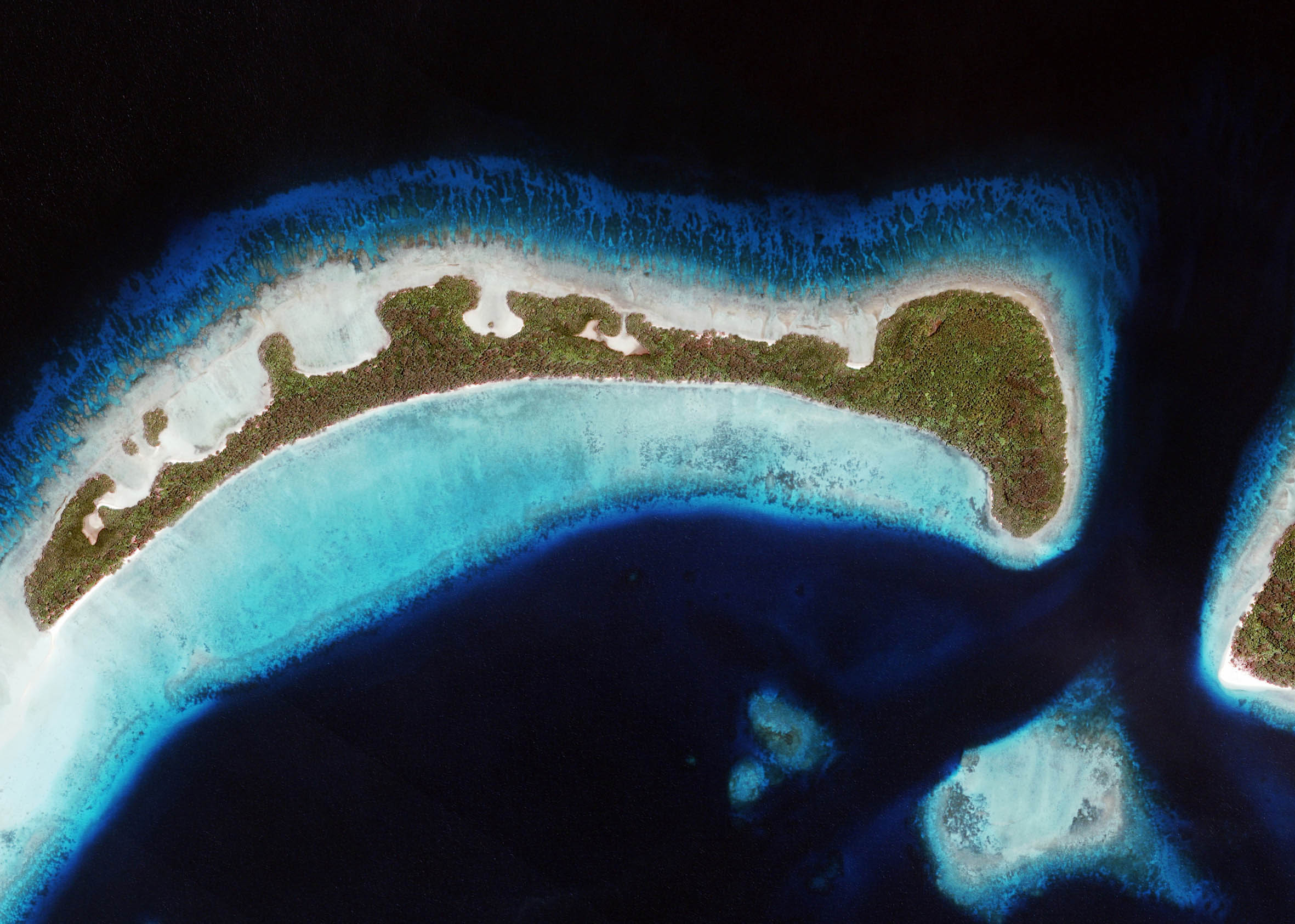 Aerial of Panaboal Island Conflict Islands PNG