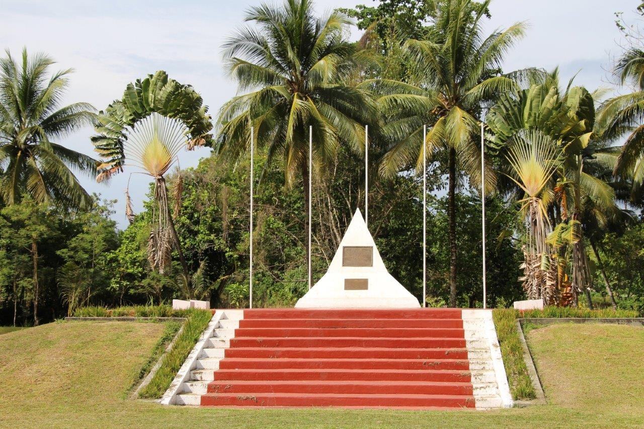 Cape Wom Memorial Park Site of the Surrender of the Japanese Imperial Forces during World War 2 in WeWak Papua New Guinea