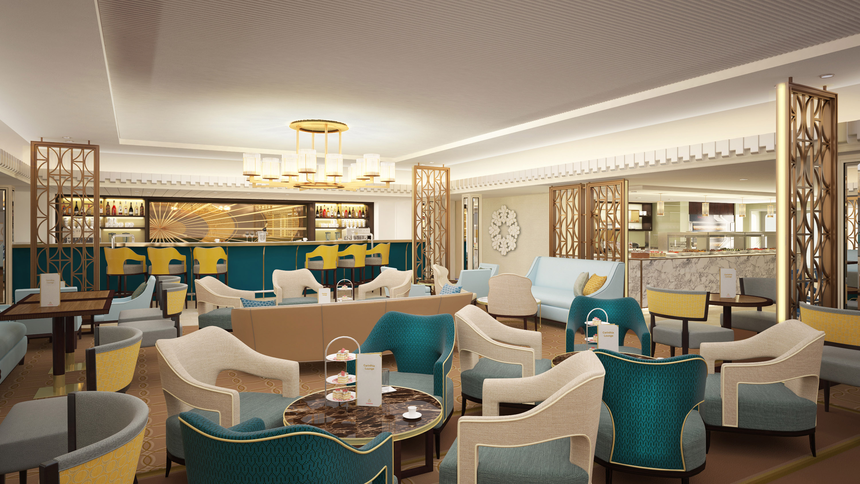 Carinthia Lounge Queen Mary 2 rendering