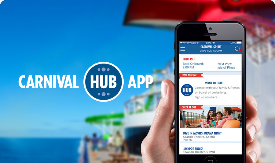 Carnival Cruise Lines New Hub App