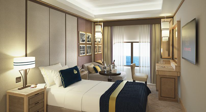 Cunard Britannia Single Stateroom render