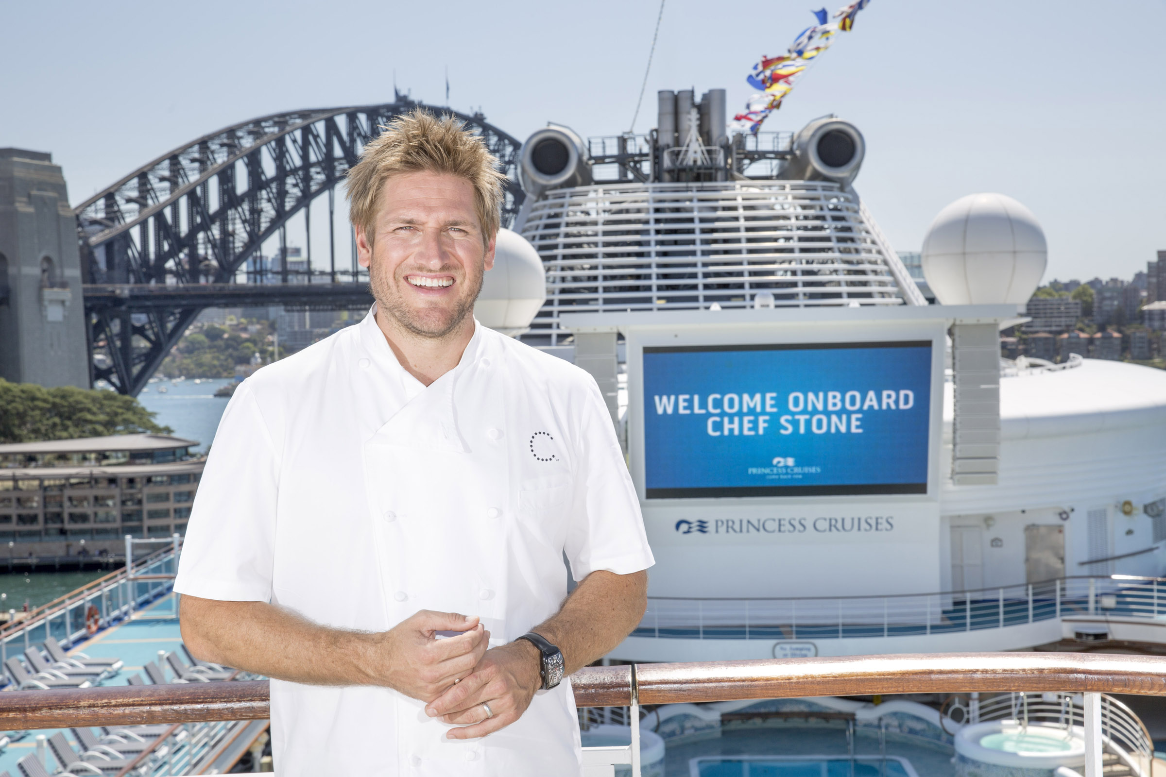 Curtis Stone onboard Diamond Princess email
