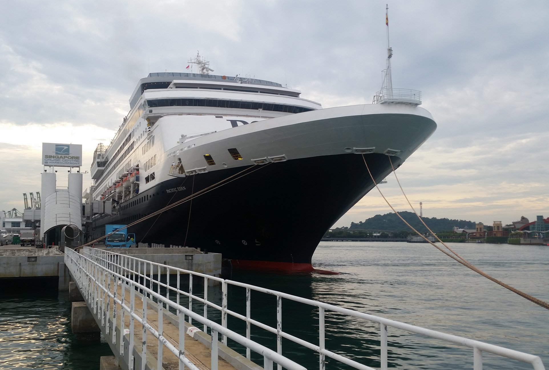 Email Pacific Eden in Singapore for the start of her inaugural season of cruises from the city July 30