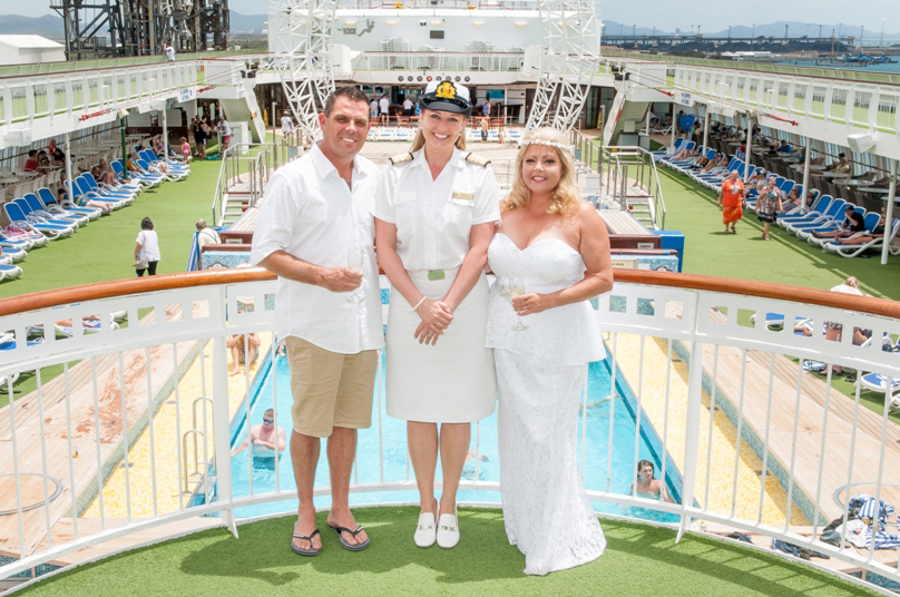 Wedding on Pacific Jewel